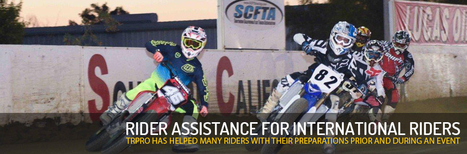 TRPRO has helped many international riders with their preparations prior and during an event.